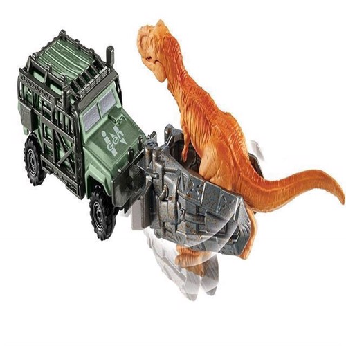 Image of   bil, Match Box - Jurassic World - Tyranno-Hauler
