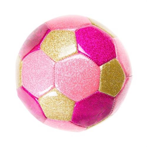 Image of Fodbold metallic, pink 15 cm. (5413247048509)