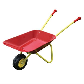 Image of Metal Wheelbarrow Red (8718481287101)