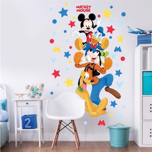 Image of Mickey Mouse Og Venner Kæmpe Figur Wallsticker (5060107045781)