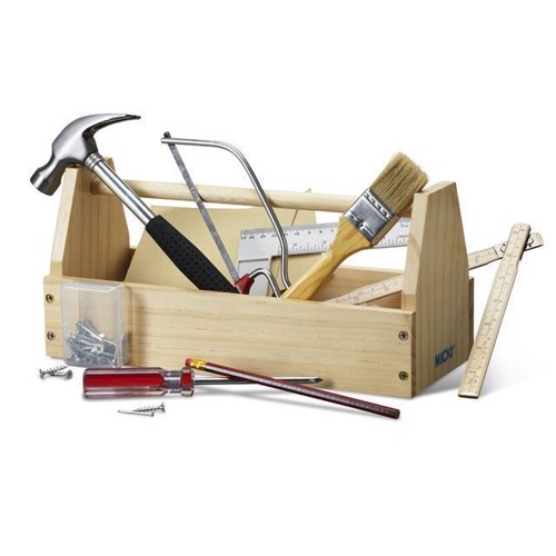 Image of   Værktøjskasse med værktøj, Micki