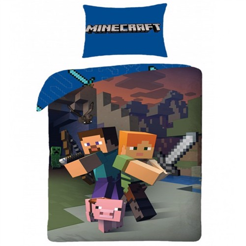 Image of Minecraft 2I1 Sengetøj 100 Procent Bomuld