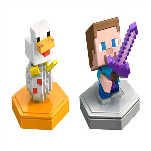 Image of Minecraft - Boost Mini Figure 2-Pack - Steve & Companion (GKT42) (0887961831689)