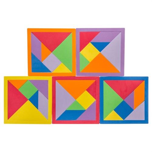 Image of Mini Tangram puslespil