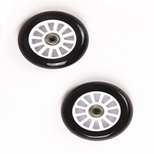 Image of My Hood - 2 Wheels for Trick Scooters 100 mm - Black/White (505082) (5704035550824)