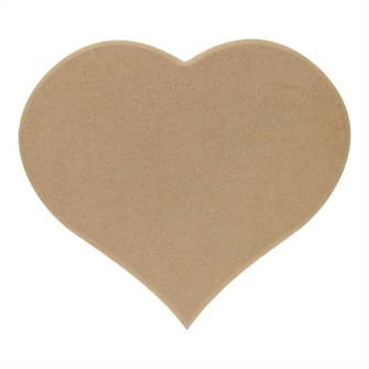 Image of Nameplate Heart MDF (8719348005371)