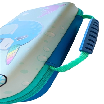 Image of Narwhal Case Aqua / Blue Switch Lite Case - Nintendo Switch (5060176365339)