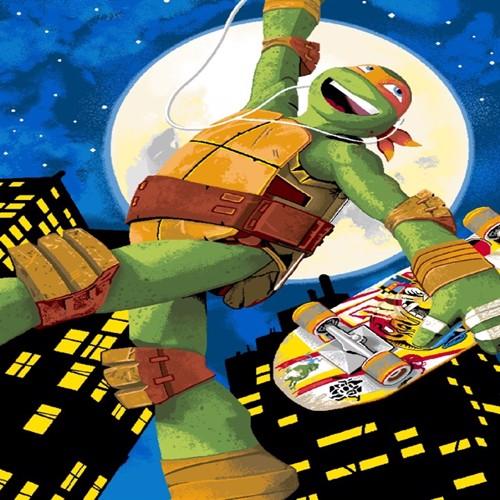 Image of Ninja Turtles Gulvtæppe 01 Til Børn 133X95