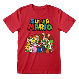 Image of T-shirt - Nintendo Super Mario - Main Character Group XXLarge (5055910375859)