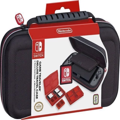 Image of Nintendo Switch Deluxe Travel Case Black - Nintendo Switch (0663293109128)