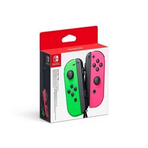 Image of   Nintendo Switch JoyCon Controller Pair Neon Green Neon Pink L R