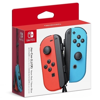 Image of   Nintendo Switch JoyCon Controller Pair Neon Red L Neon Blue R