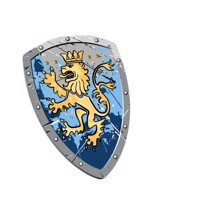 Noble lion knigh skumskjold