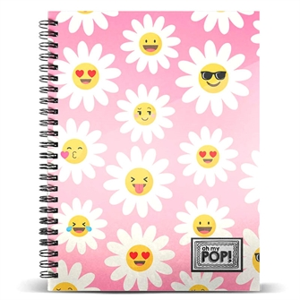 Image of Oh My Pop Happy Flower A4 notebook (8445118002829)