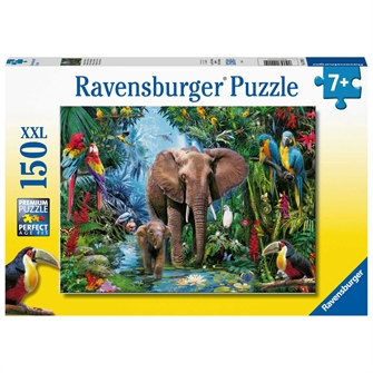 Image of Elephants in the Jungle, 150st. XXL (4005556129010)