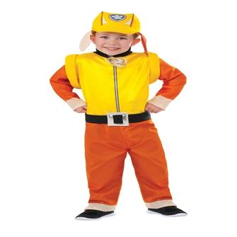 Image of Paw Patrol Rubble Deluxe udklædning til børn(Str. 99/Toddler)