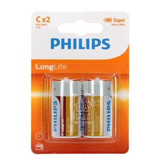 Image of Philips LONG life batteri r14 c