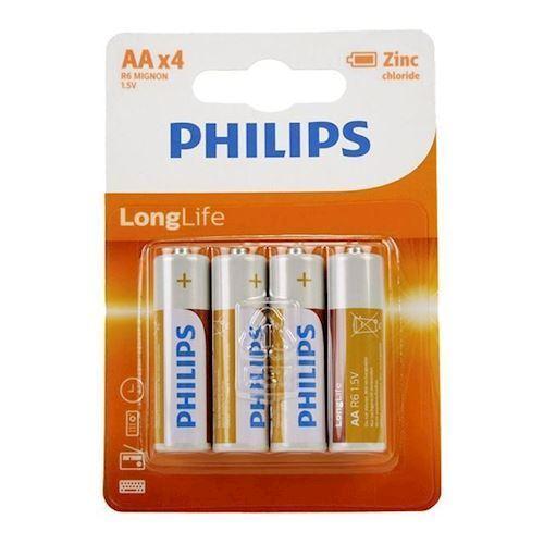 Image of Philips Batteri R6 AA Long Life