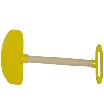 Image of Plastspade til børn med træskaft og greb (5906764720947)