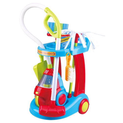 Image of PlayGo Cleaning Trolley with Vacuum, 7dlg. (4892401033314)