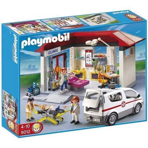 Image of   Playmobil - Clinic with Emergency Vehicle (5012)