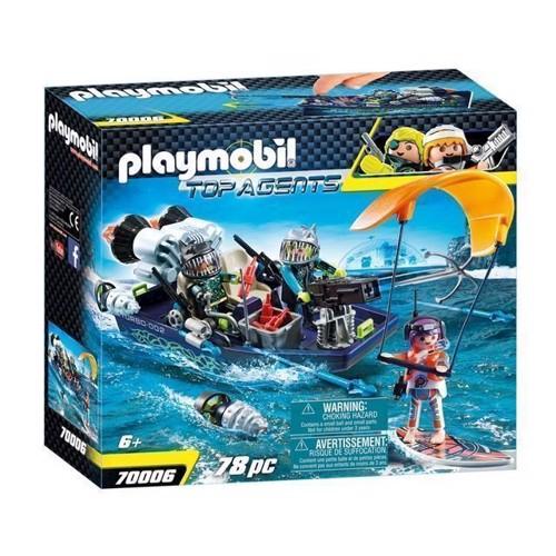 Image of Playmobil 70006 Top Agents Harpun Båd
