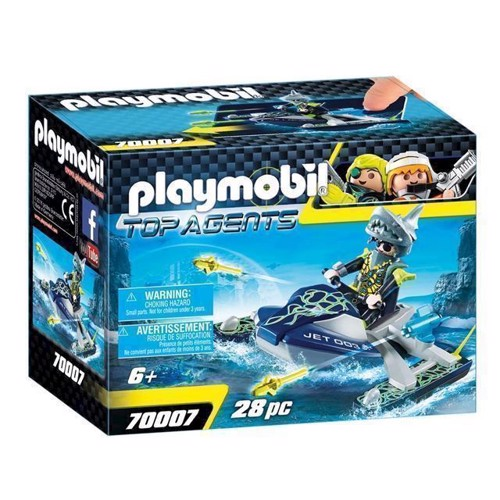 Image of Playmobil 70007 top agents raket rafter