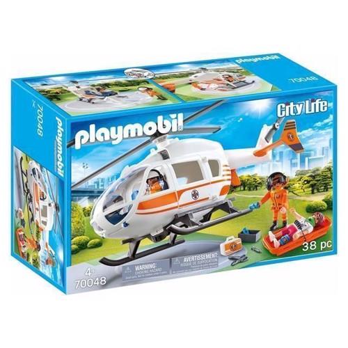 Image of Playmobil - Redningshelikopter (70048) (4008789700483)