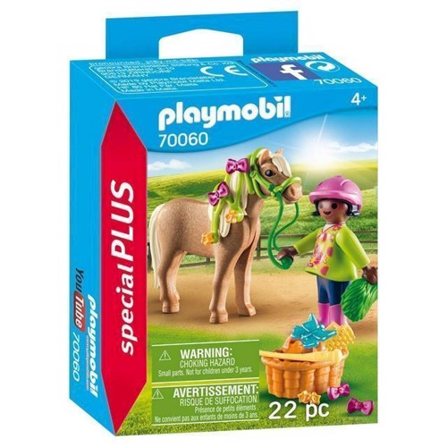 Image of Playmobil 70060 Pige med Pony