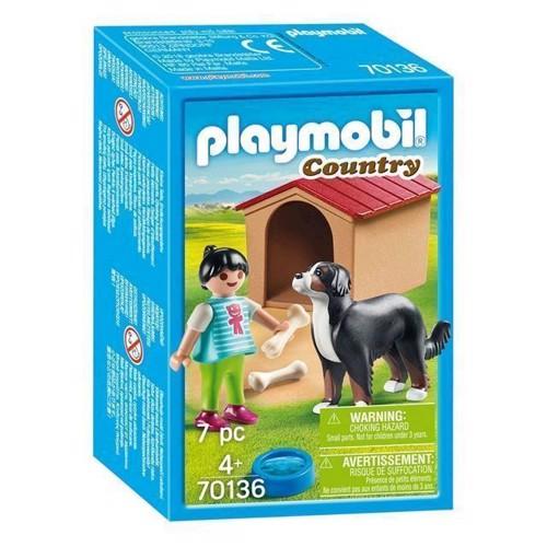 Image of Playmobil 70136 barn med hund