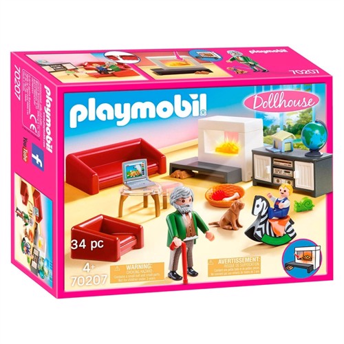 Image of Playmobil 70207 stue med brandeovn