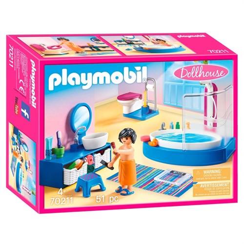 Image of Playmobil 70211 badeværelse med badekar (4008789702111)