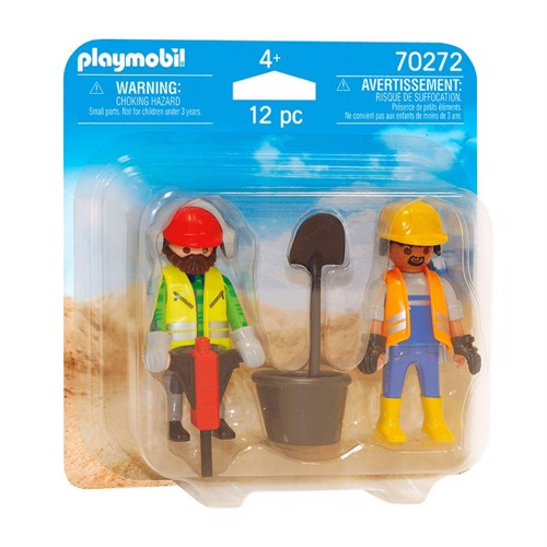 Image of Playmobil 70272 Construction workers (4008789702722)