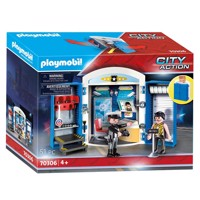 Playmobil 70306, politistation, legeboks