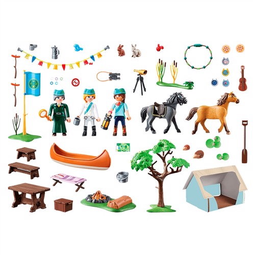 Image of Playmobil 70329 Horse camp (4008789703293)