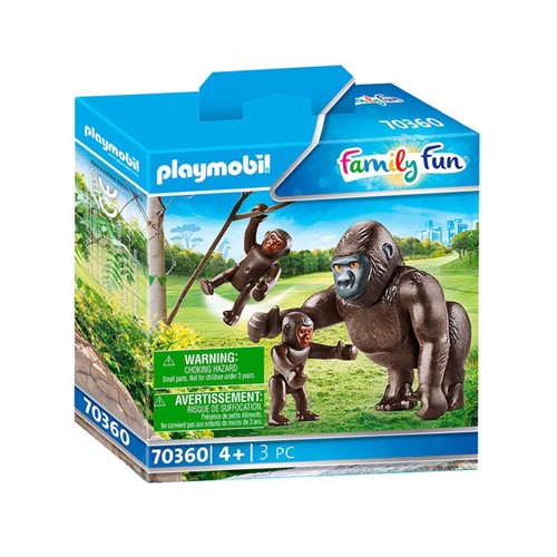 Image of Playmobil 70360 Gorilla with Babies (4008789703606)