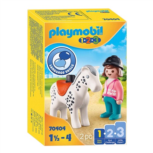 Image of Playmobil 70404 Rider with Horse (4008789704047)