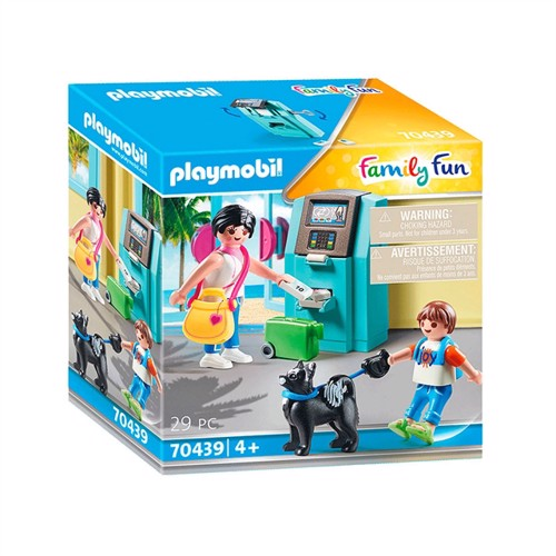 Image of Playmobil 70439 Holidaymakers with ATM (4008789704399)
