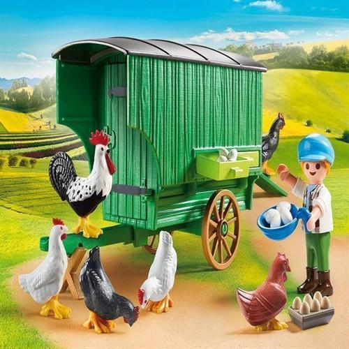 Image of Playmobil 70138, Mobilt hønsehus