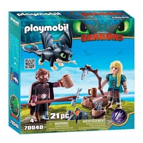 Image of Playmobil Dragons - Hikke og Astrid med Baby-drage (70040)