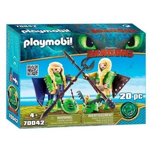 Image of Playmobil Dragons - Benknold og Stenknold Med Pilotdragt