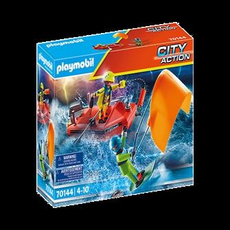 Image of Playmobil 70144 Kitesurferredning med båd (4008789701442)