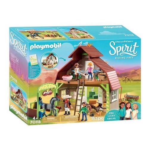 Image of Playmobil Spirit 70118 Lade Med Lucky, Pru Og Abigail