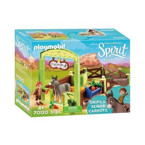 Image of Playmobil Spirit 70120 Cut og Mr Carrots med hesteboks