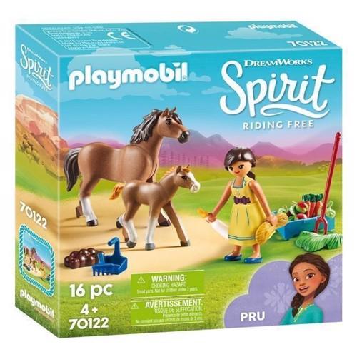 Image of Playmobil Spirit 70122 Pru med hest og føl