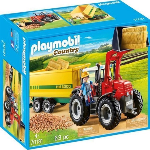 Image of Playmobil 70131, Traktor Med Trailer