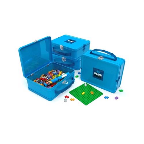 Image of Plus Plus - Suitcase Metal blue, 600 pc (5710409103428)