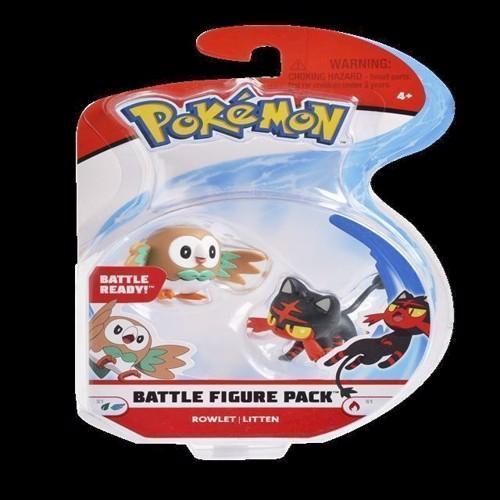Image of Pokemon Battle figur pakke 5 cm, Rowlet & Litten
