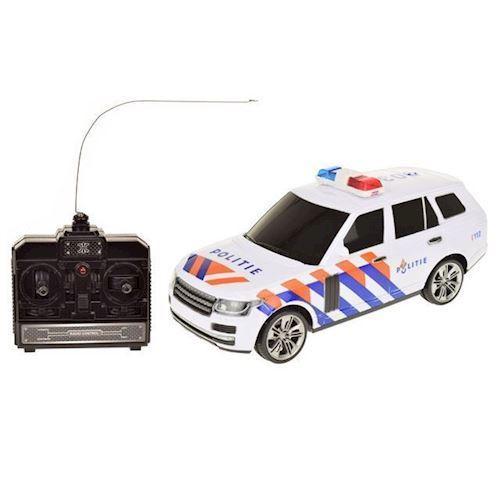 Image of Fjernstyret politi bil med lys og lyd (8714627140712)
