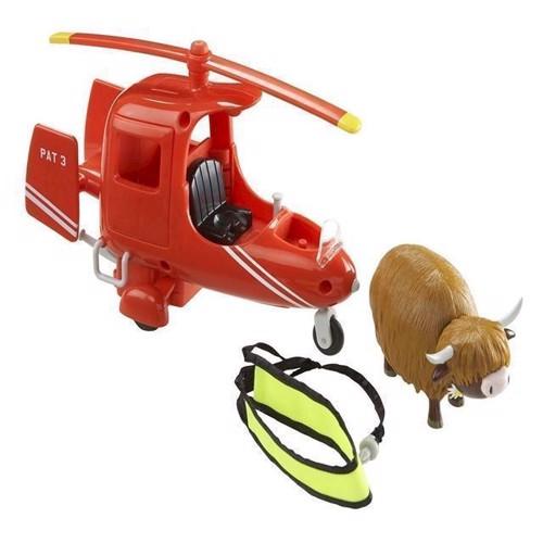 Image of Postmand Per helikopter med ko